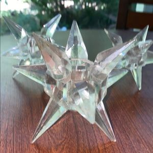 3 Vintage • Star ⭐️ • crystal candle holders (70s)